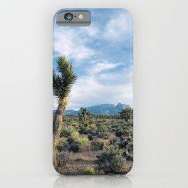 Mountain Joshua Tree   High Desert View Charleston Peak iPhone Case