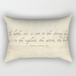 The Battle by Patrick Henry Rectangular Pillow