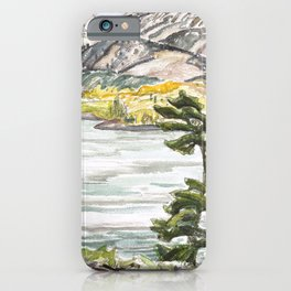 Franklin Carmichael - Lake La Cloche - Canada, Canadian Watercolor Painting - Group of Seven iPhone Case