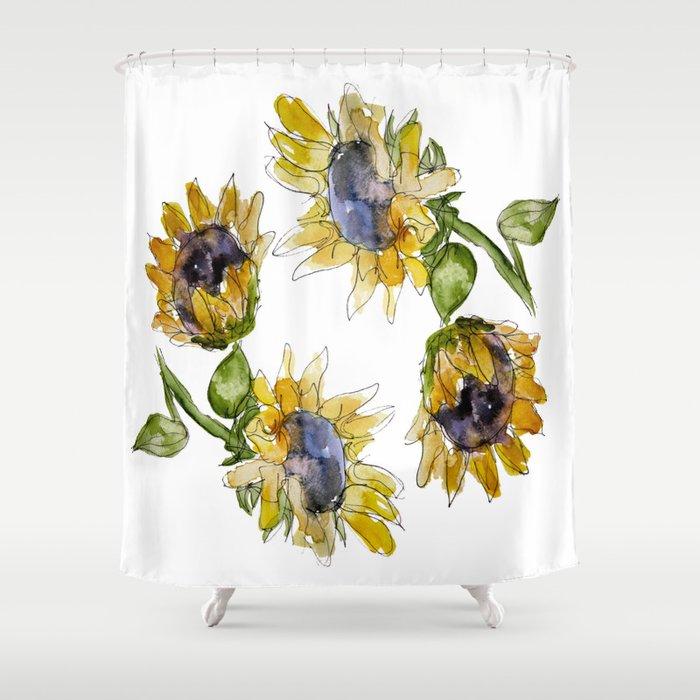 Sunflower Shower Curtain By Emilykenney