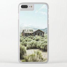 Old house in desert Clear iPhone Case