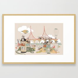 City of Animamaly Framed Art Print