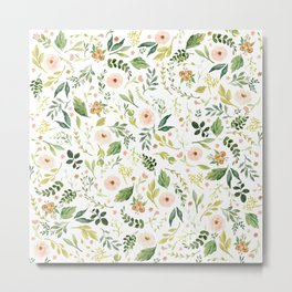 Botanical Spring Flowers Metal Print