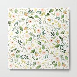 Botanical Spring Flowers Metal Print