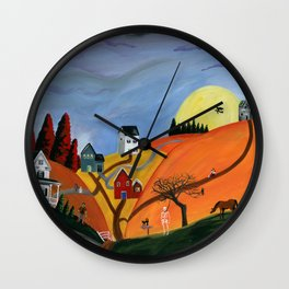 Hilly Haunting Wall Clock