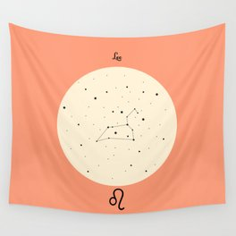 Leo - Pink Wall Tapestry