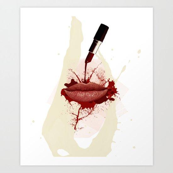 RED LIPS!  Art Print