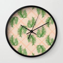 Geometries & Palms #society6 #decor #buyart Wall Clock