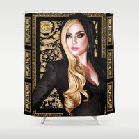 versace Shower Curtains featuring Mother Monster - Versace by Denda Reloaded