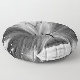 Butterfly black and white Floor Pillow