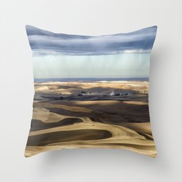 Velvet Hills Throw Pillow