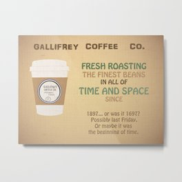 Doctor Who Gallifrey Coffee Metal Print