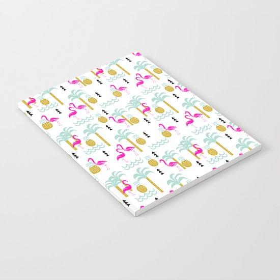 Tropical Summer flamingo bird pineapple nature trendy hipster minimal print children vacation desert Notebook