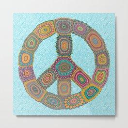 Peace is Groovy Metal Print