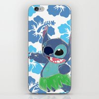 stitch iPhone & iPod Skins featuring Stitch  by Nic Moore