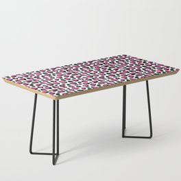Leopard Animal Print Hot Pink Black Spots Coffee Table