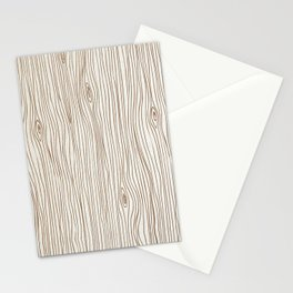 Wood Grain - Brown Stationery Cards