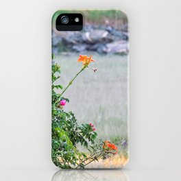 Low Tide Tiger Lillies iPhone Case