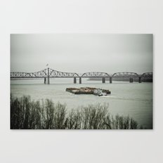 Barge Traffic II Canvas Print