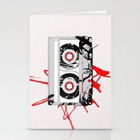 tape Stationery Cards featuring tape by Sean McFadyen