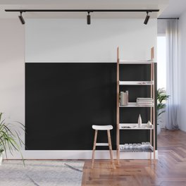 Color Block-Black and White Wall Mural