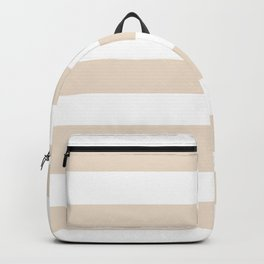 Almond - solid color - white stripes pattern Backpack