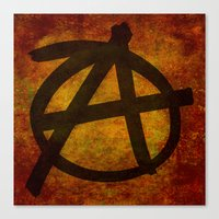 anarchy Canvas Prints featuring Anarchy by BruceStanfieldArtist.DarkSide