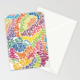 The inner workings of my mind! White! Stationery Cards