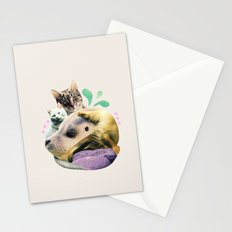furry on the meowsea Stationery Cards