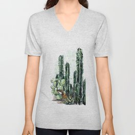 Cactus Long and a friend Unisex V-Neck