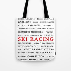 Ski Racing Tote Bag