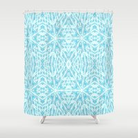 aqua Shower Curtains featuring Aqua by 2sweet4words Designs