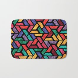 Seamless Colorful Geometric Pattern IX Bath Mat