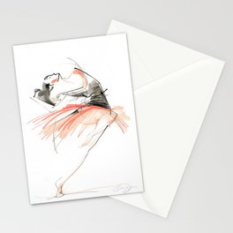 Expressive Dance Drawing Stationery Cards