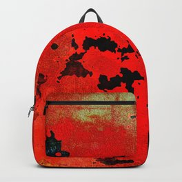 Red Modern Contemporary Abstract Textured Design Backpack