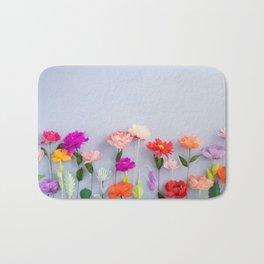 Handmade paper flowers Bath Mat