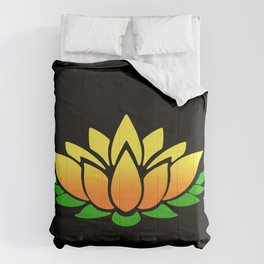Yellow Lotus Comforters