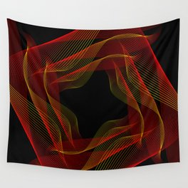 Fire background. The red-orange glow to go pattern background. Wall Tapestry