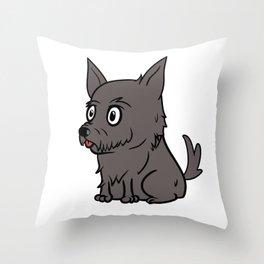 Scottish Terrier Cute Cartoon  Throw Pillow
