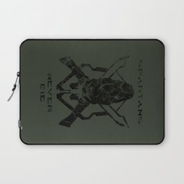 Spartans Never Die  |  Halo Laptop Sleeve
