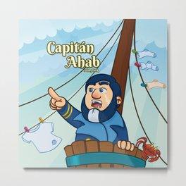 Capitán Ahab Metal Print