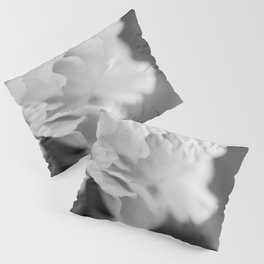 Peony in Black and White Pillow Sham