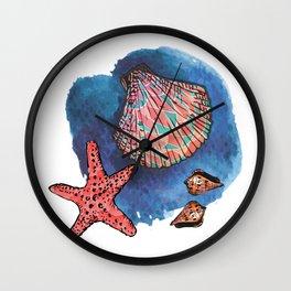 Seashells and starfish Wall Clock
