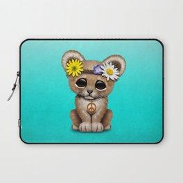 Cute Baby Lion Cub Hippie Laptop Sleeve