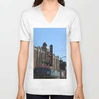 stanley kubrick V-neck T-shirts featuring Stanley by RMK Photography