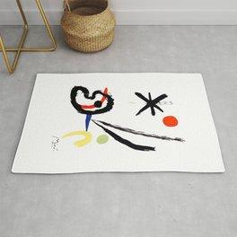 Joan Miro - Comet Bird (L'oiseau Comet) 1951 Artwork Rug