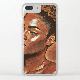 Ceramic Beauty Clear iPhone Case