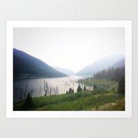 montana Art Prints featuring Montana by Kristine Ridley Weilert