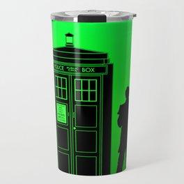 Tardis With The Second Doctor Travel Mug