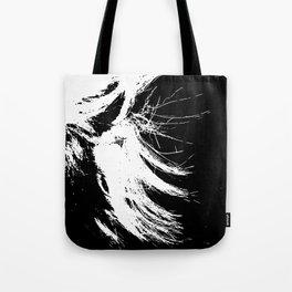 Black & White Hair Tote Bag